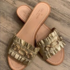 Kate Spade gold sandals